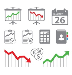 Economic icons vector