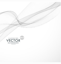 Gray abstract flowing wave background vector