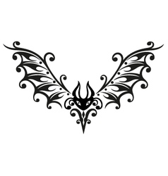 Halloween bat tribal vector