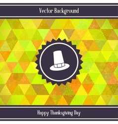Thanksgiving Day Triangles Background vector image