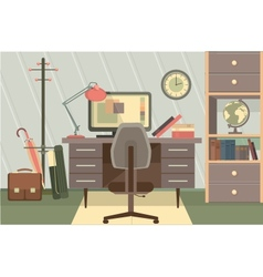 Workspace office vector