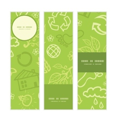 Environmental vertical banners set pattern vector