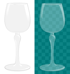 Transparent isolated wine glass vector