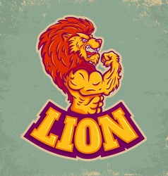 lion sport vector image