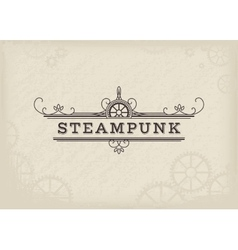 Steampunk label vector