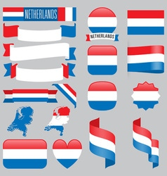 Netherlands flags vector