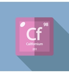 Chemical element californium flat vector