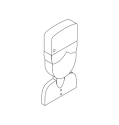 Medical clinic staff avatar icon vector