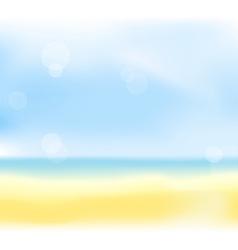 summer sea back vector image