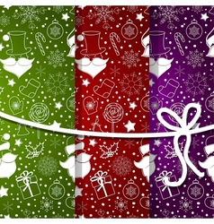 abstract background with snowflake set vector image vector image