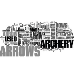 Archery arrows text word cloud concept vector