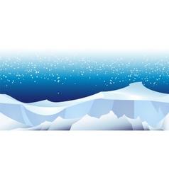 arctic landscape pattern vector image vector image