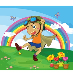 boy playing vector image vector image