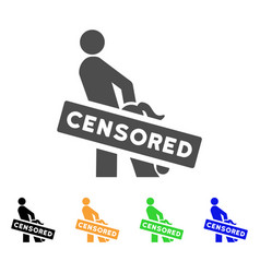 Censored oral sex persons icon vector