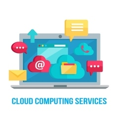 Cloud computing services banner vector