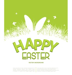Easter template for brochure rabbit ears sticking vector
