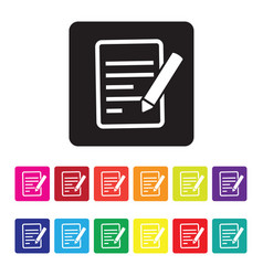 Feedback report icon set vector