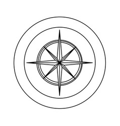 Figure symbol compass star icon vector