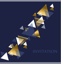 geometry motif in art deco luxury abstract vector image