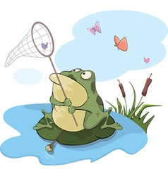 Green big frog Cartoon vector image