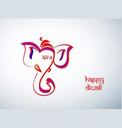 Hindu festival diwali vector