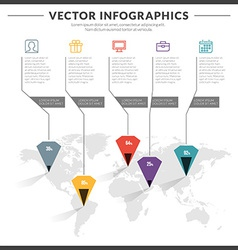 Infographics and design elements with icon set for vector