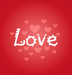 Love lettering valentines day greeting card design vector