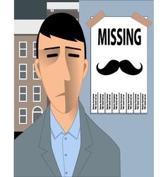Missing movember mustache vector