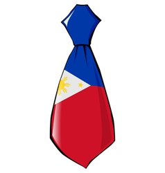 necktie in national colours of Philippines vector image
