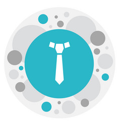 of shopping symbol on tie icon vector image