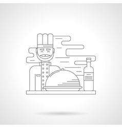 Restaurant kitchen detail line icon vector image vector image