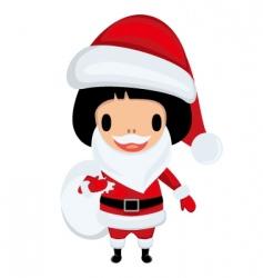Santa Claus girl vector image vector image