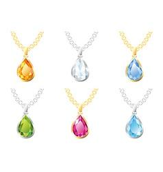 Six pendants vector