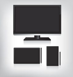 Tablet computer and monitor vector image