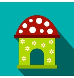 Toy house flat icon vector image