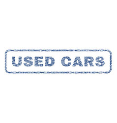 Used cars textile stamp vector