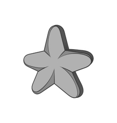 Five pointed star icon black monochrome style vector