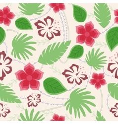 Hawaiian seamless pattern vintage vector