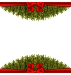 Christmas decoration on white background vector
