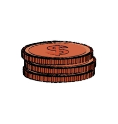 Isolated coins money vector