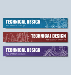 Templates banners red blue and purple with vector