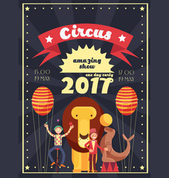 Retro circus entertainment carnival and holiday vector