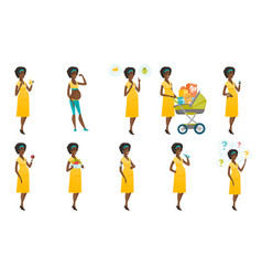 Set of with pregnant women vector