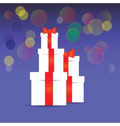 Stack of gift boxes vector