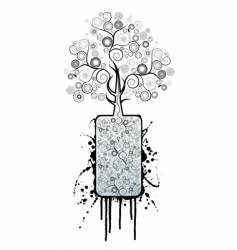 splatter tree vector image