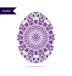 Easter egg background decorated with ornament vector