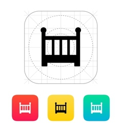 Crib icon vector