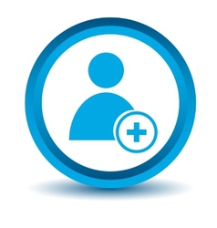 Blue add user icon vector image