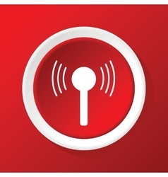 Signal icon on red vector