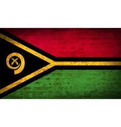 Flags vanuatu with dirty paper texture vector